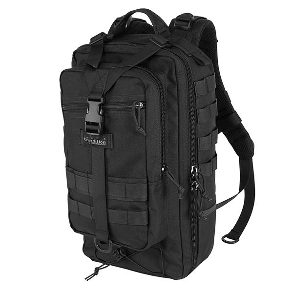 Тактический рюкзак kiwidition Karearea черный (Back)